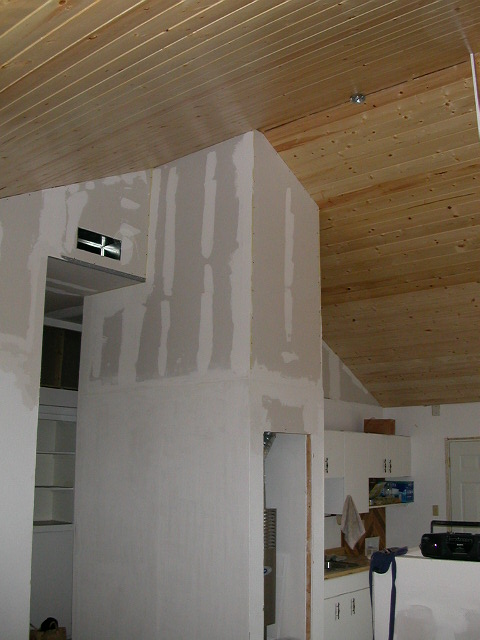 tongue and groove spruce ceiling
